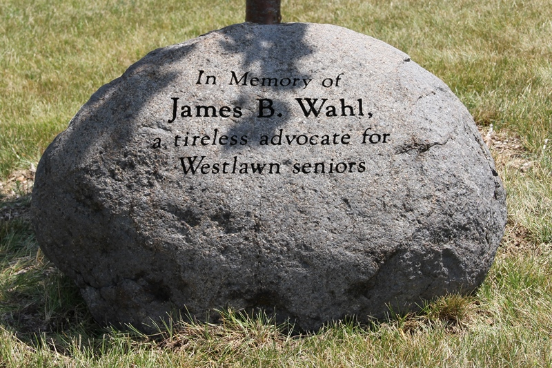 Memorial Stone at Westlawn Gardens - James B Wahl