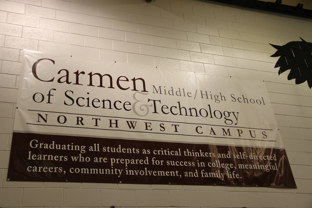 Carmen School Sign