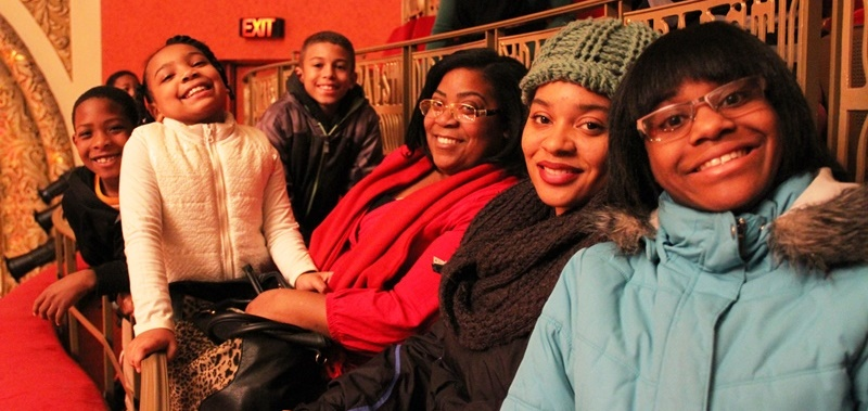Family at Milwaukee Rep's A Christmas Carol