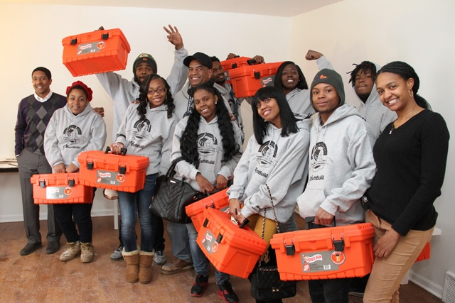 HACM YouthBuild Participants with Toolboxes