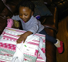 HACM child receives holiday gift